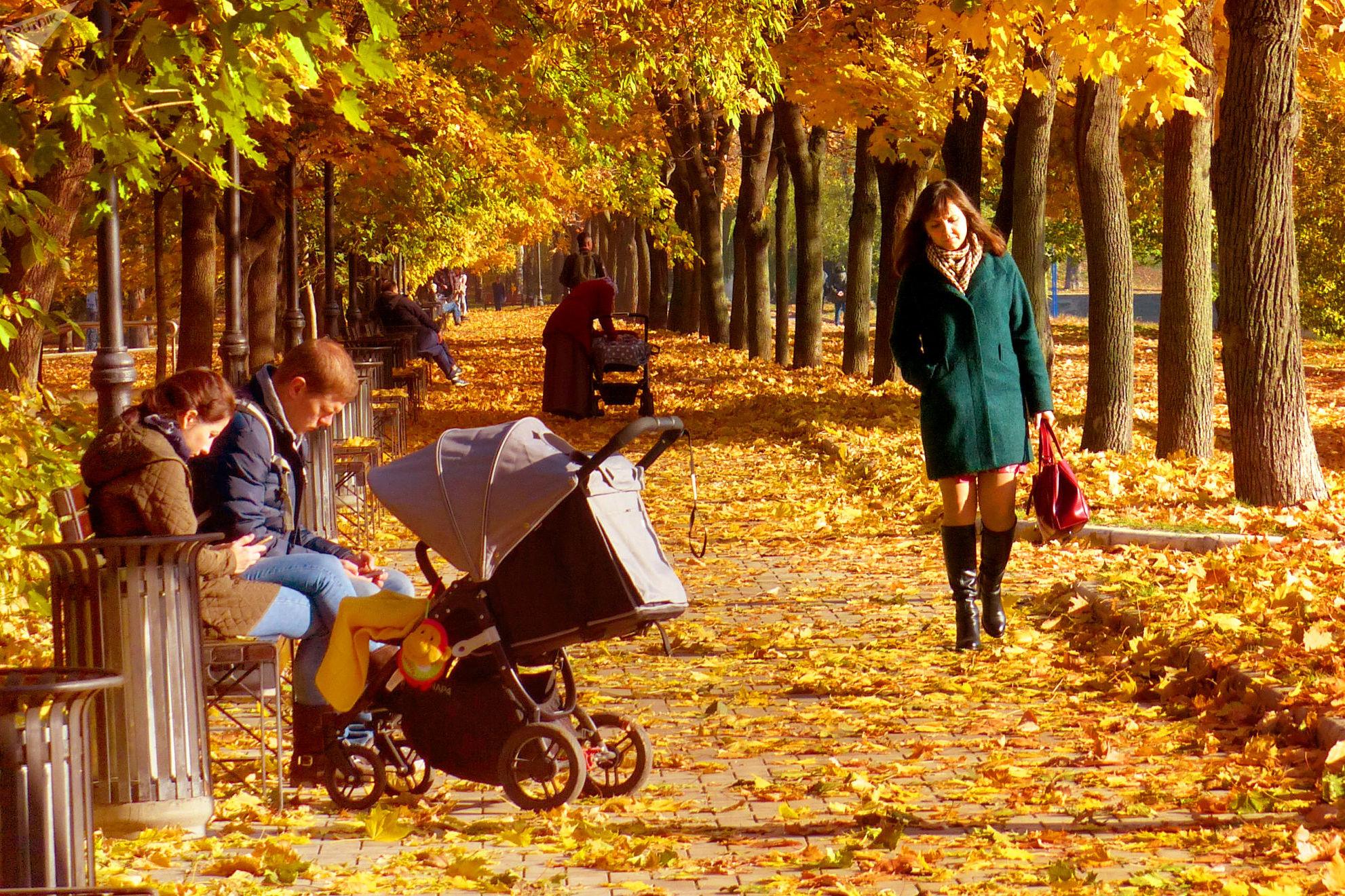 Otoño en Moscú, el parque Gorki