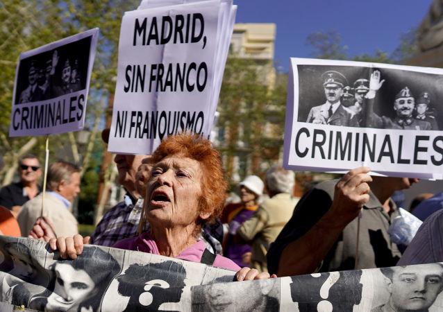 Protestas tras la decisión del Gobierno de España de exhumar los restos de Francisco Franco