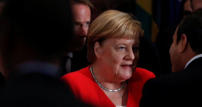 Angela Merkel, la canciller alemana, en la Asamblea General de la ONU