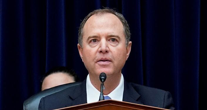 Adam Schiff, presidente del Comité de Inteligencia de la Cámara de Representantes de EEUU, durante una comparecencia