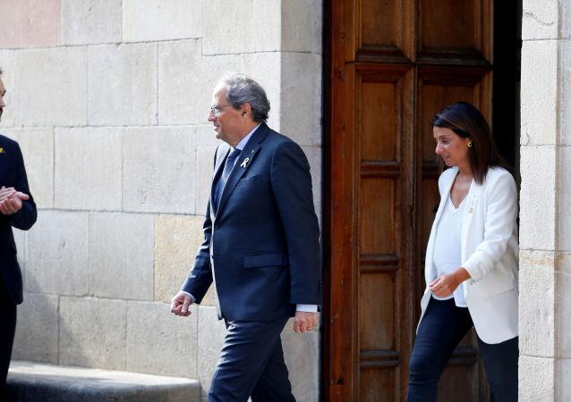 Quim Torra, el presidente catalán