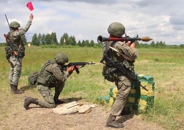 Así celebran su aniversario las Fuerzas Terrestres de Rusia