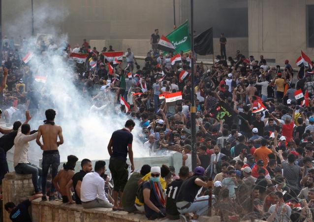 Las protestas en Bagdad