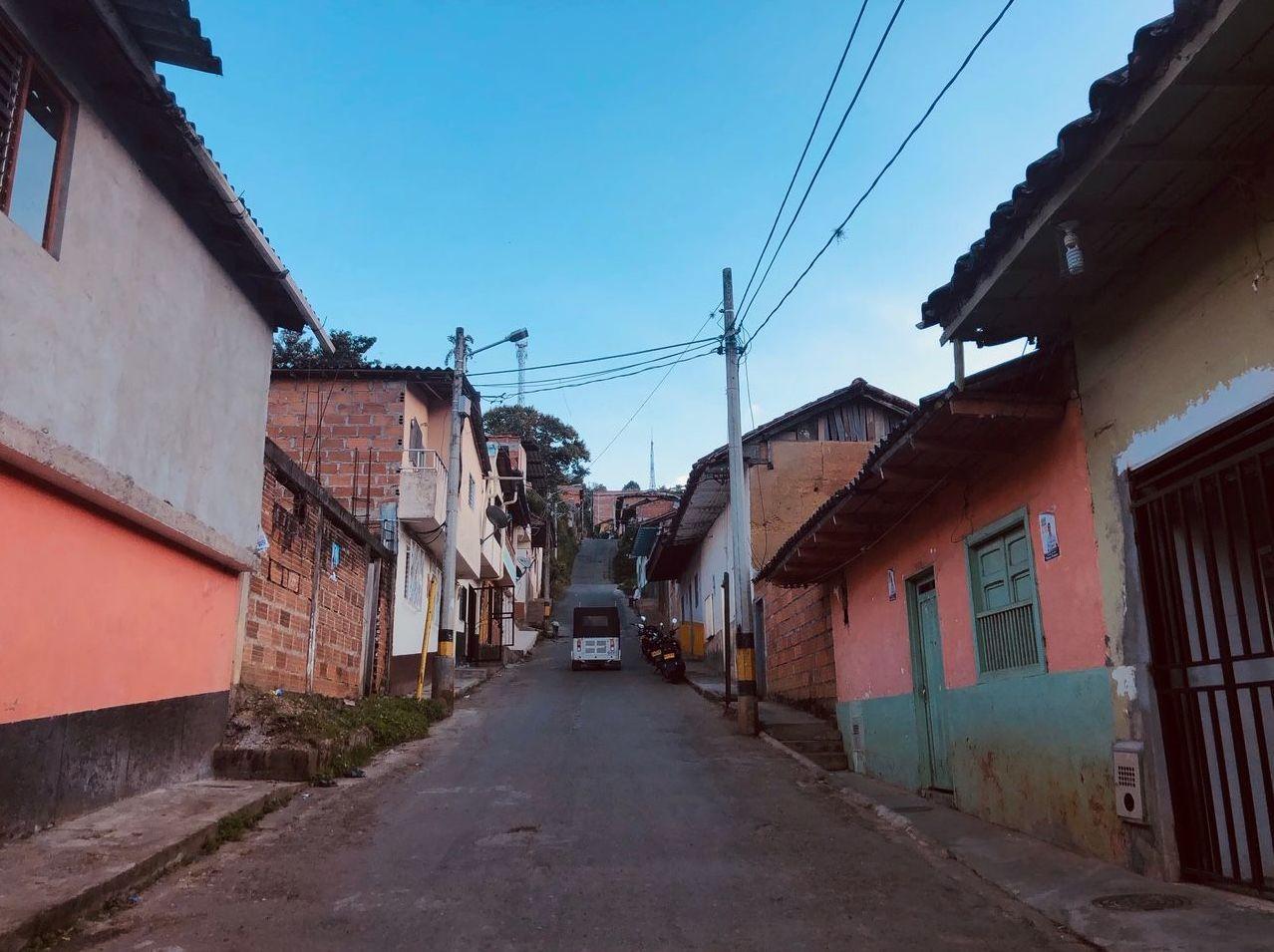 Las calles del pueblo de Ituango