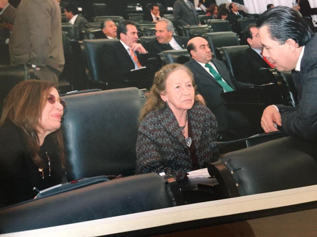 María Rojo, actriz y política mexicana, Rosario Ibarra, política y activista mexicana, el exsenador René Arce