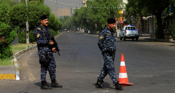 Los soldados de la Fuerza de Seguridad de Irak en Bagdad