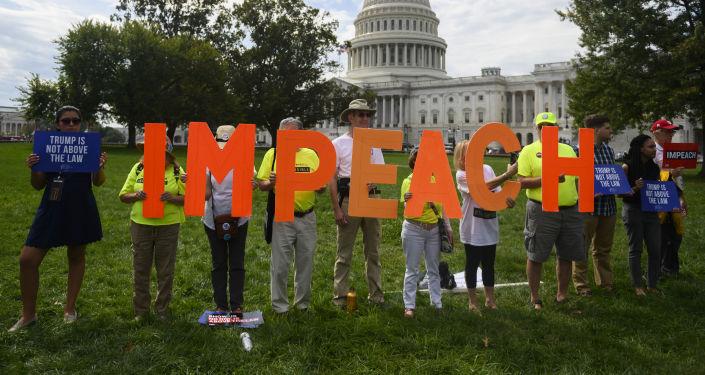 La campaña a favor del 'impeachment' de Donald Trump en Washington, EEUU