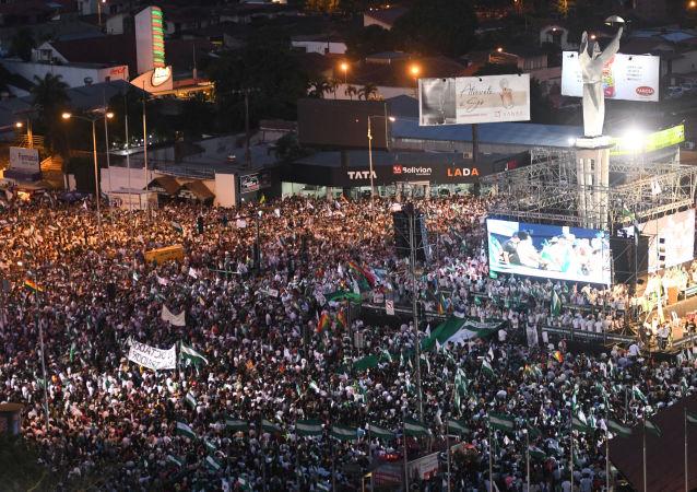 Cabildo cívico-político en Santa Cruz contra la repostulación de Evo Morales