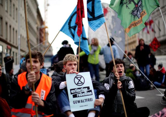 Protestas contra el cambio climático en Austria