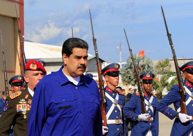 Nicolás Maduro, presidente de Venezuela, en su llegada al aeropuerto internacional Simón Bolívar