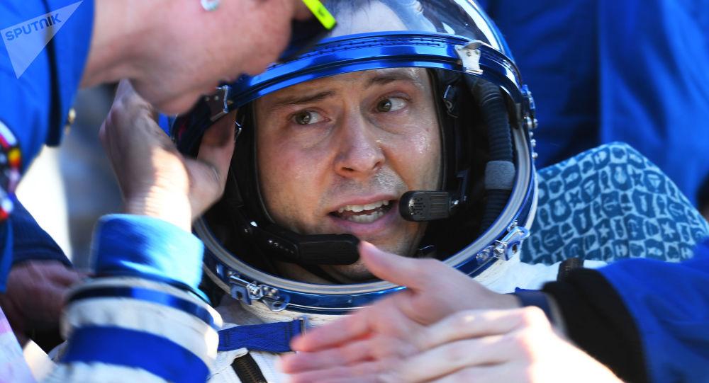 El astronauta estadounidense Nick Hague