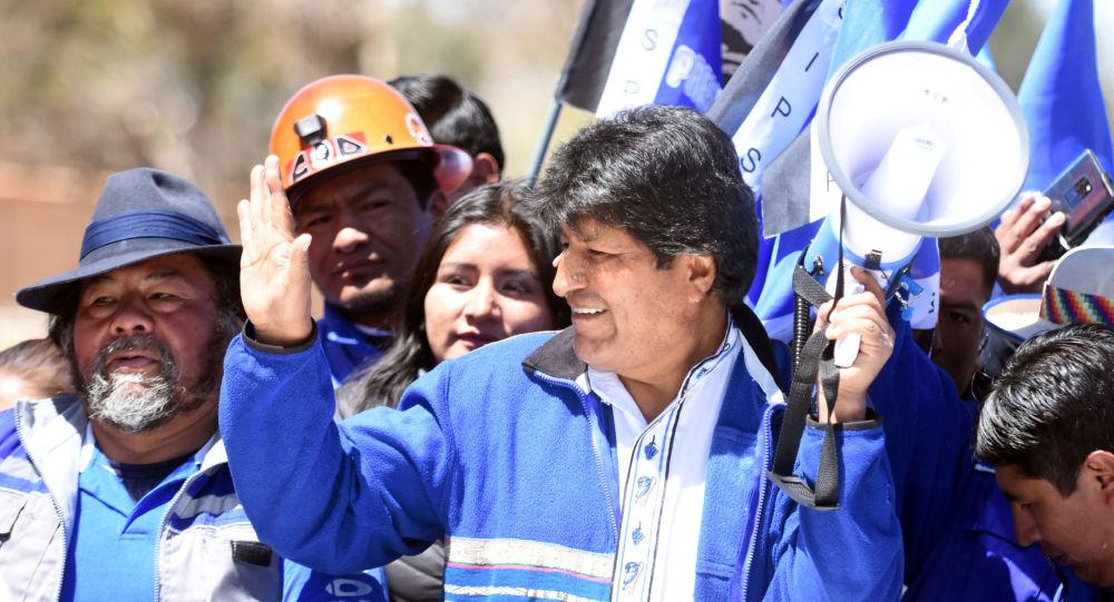 Evo Morales, actual presidente de Bolivia, durante su campaña electoral