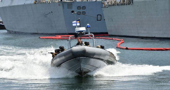 Militares participan en los ejercicios internacionales Sea Breeze 2019 celebrados en Odesa
