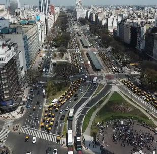 Taxistas argentinos bloquean las calles de Buenos Aires