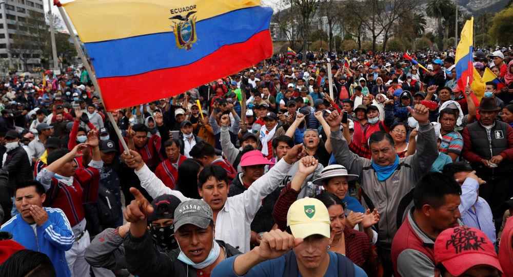 Las protestas en Ecuador