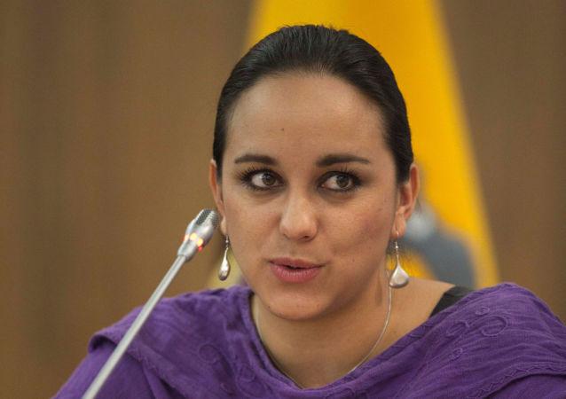 Gabriela Rivadeneira, asambleísta del movimiento político de Rafael Correa (archivo)