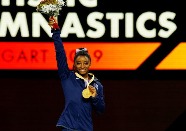 Simone Biles, gimnasta estadounidense