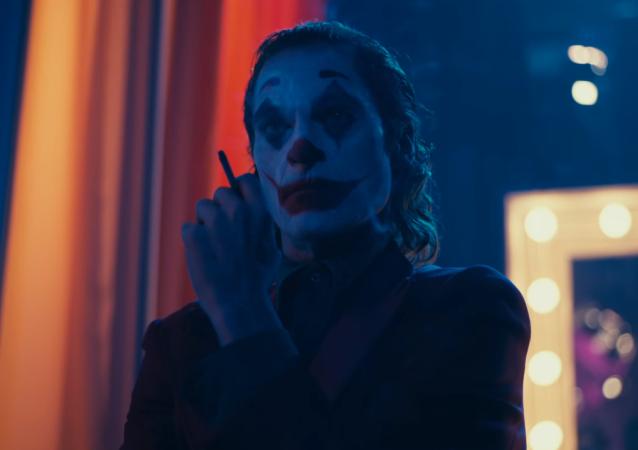 El actor Joaquin Phoenix en el papel del personaje Guasón —Joker—