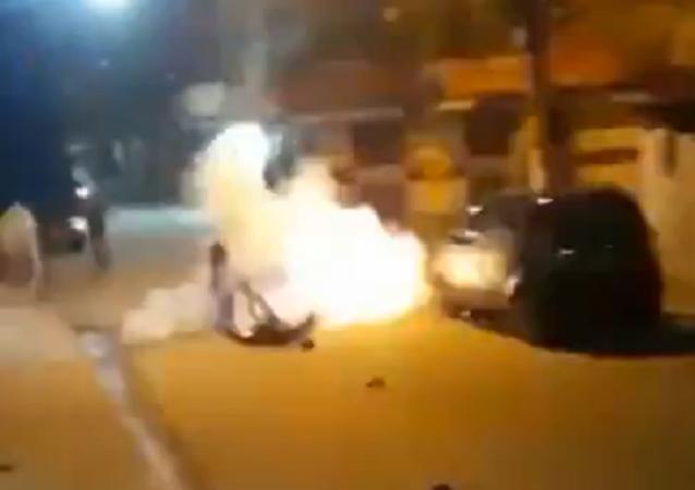 Una bomba casera explota en el bolsillo de un hombre en Brasil