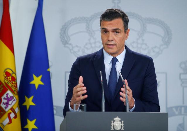Pedro Sánchez, presidente en funciones del Gobierno español