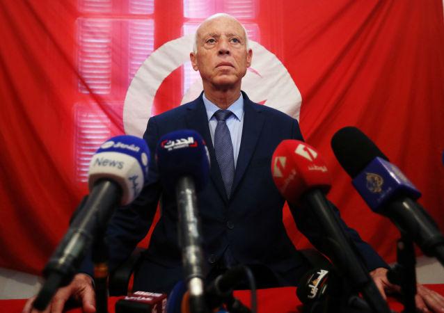 Kais Saied, presidente electo de Tunéz