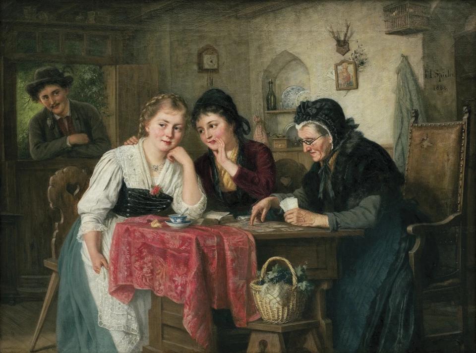 'La visita de la vidente' de Marie Spieler (1888)