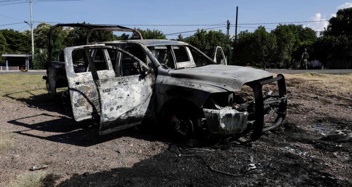 Lugar de la emboscada en Michoacán