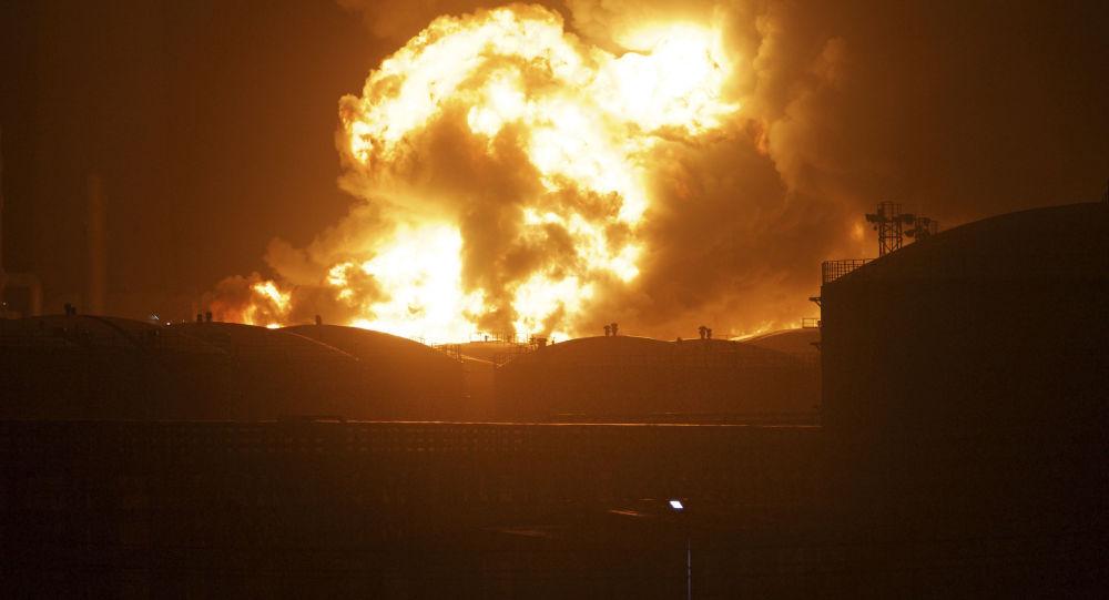 Explosión en una planta química en China (archivo)