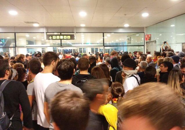 Situación en el aeropuerto de Barcelona