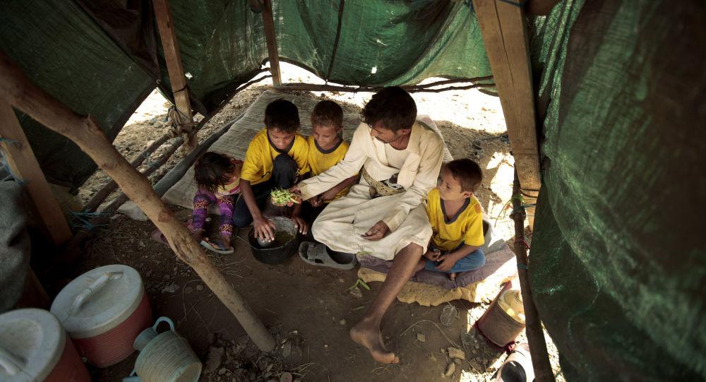 Desplazados en Yemen (archivo)