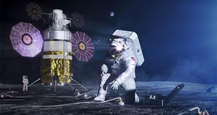 Un astronauta en la Luna, imagen ilustrativa