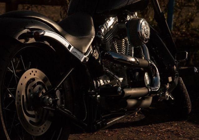 Una motocicleta. Imagen referencial