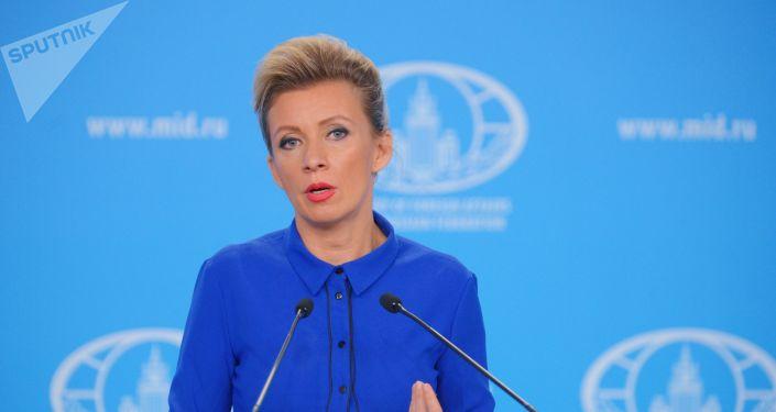Maria Zajárova, la portavoz de la Cancillería rusa