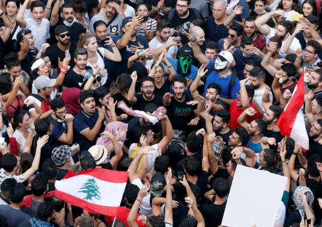 Protestas en el Líbano