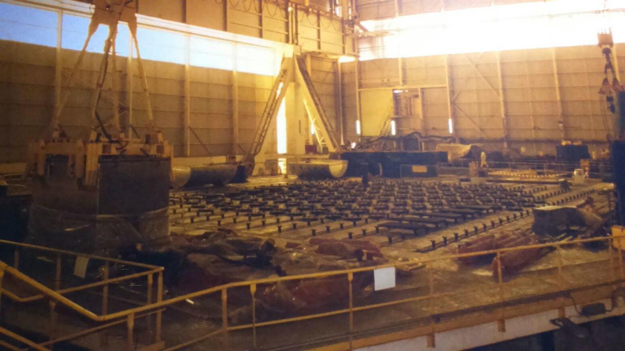 El interior de la central nuclear Vandellós I durante las obras de desmantelamiento