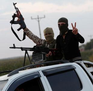 Rebeldes pro-turcos en el norte de Siria, el 17 de octubre de 2019