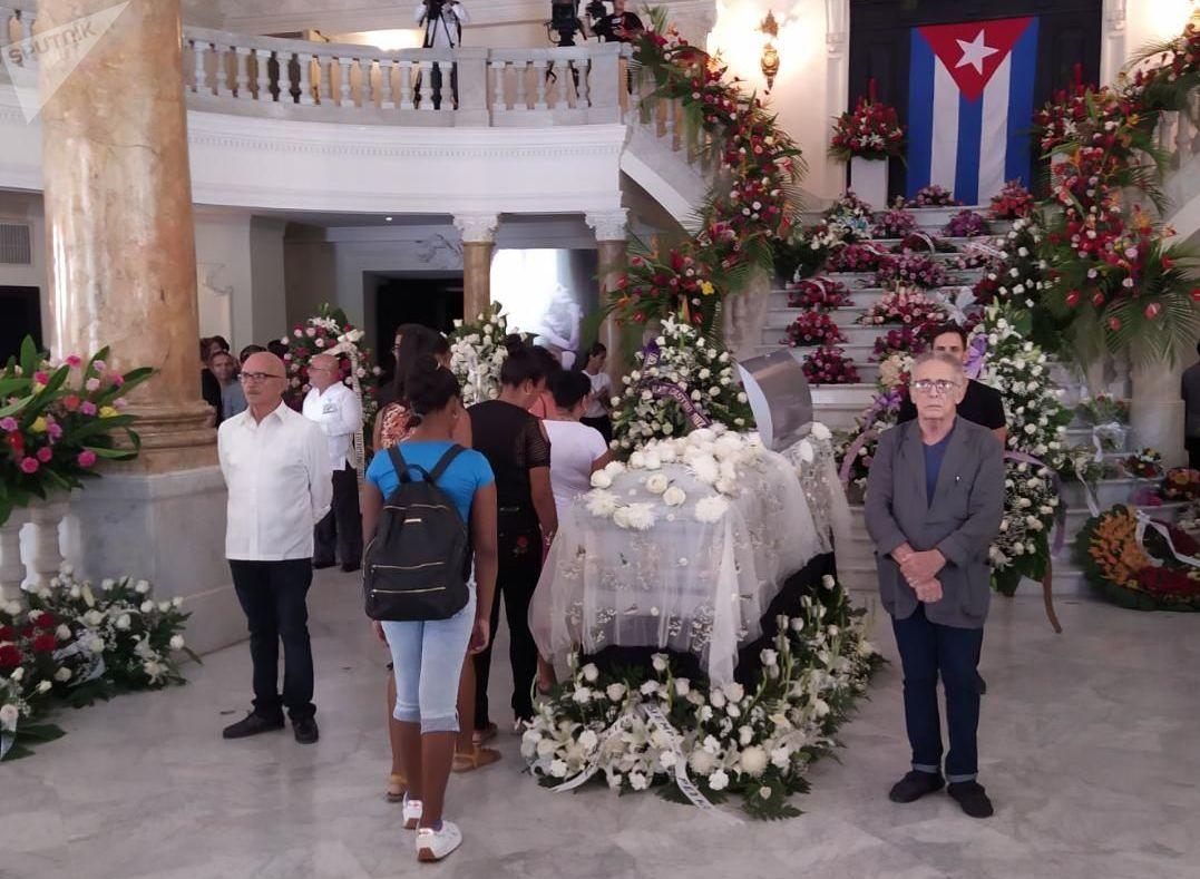 Funerales en el Gran Teatro de La Habana de la legendaria bailarina cubana Alicia Alonso, fallecida a los 98 años