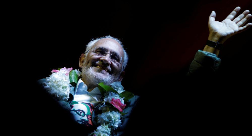 Carlos Mesa, candidato presidencial boliviano