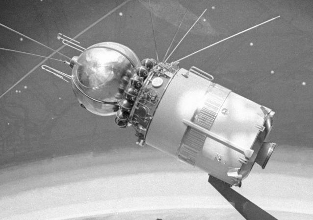 La primera nave espacial Vosjod 1