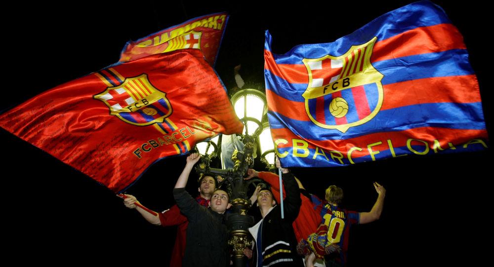 Los hinchas del FC Barcelona (archivo)