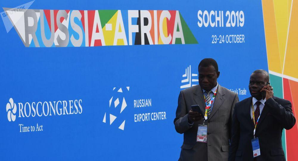 Los visitantes de la cumbre Rusia-África en Sochi, Rusia