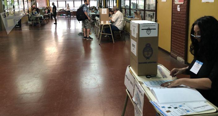 Las urnas de votación en Argentina