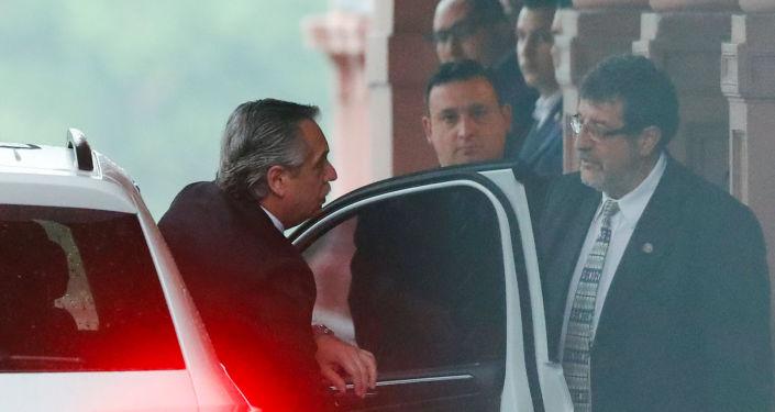 Alberto Fernández llega a la Casa Rosada