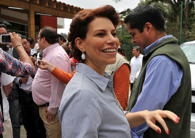Karime Macías, esposa del exgobernador de Veracruz Javier Duarte