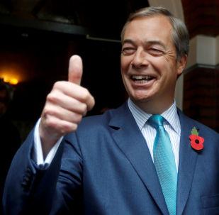 Nigel Farage, exlíder del partido de la Independencia del Reino Unido (archivo)
