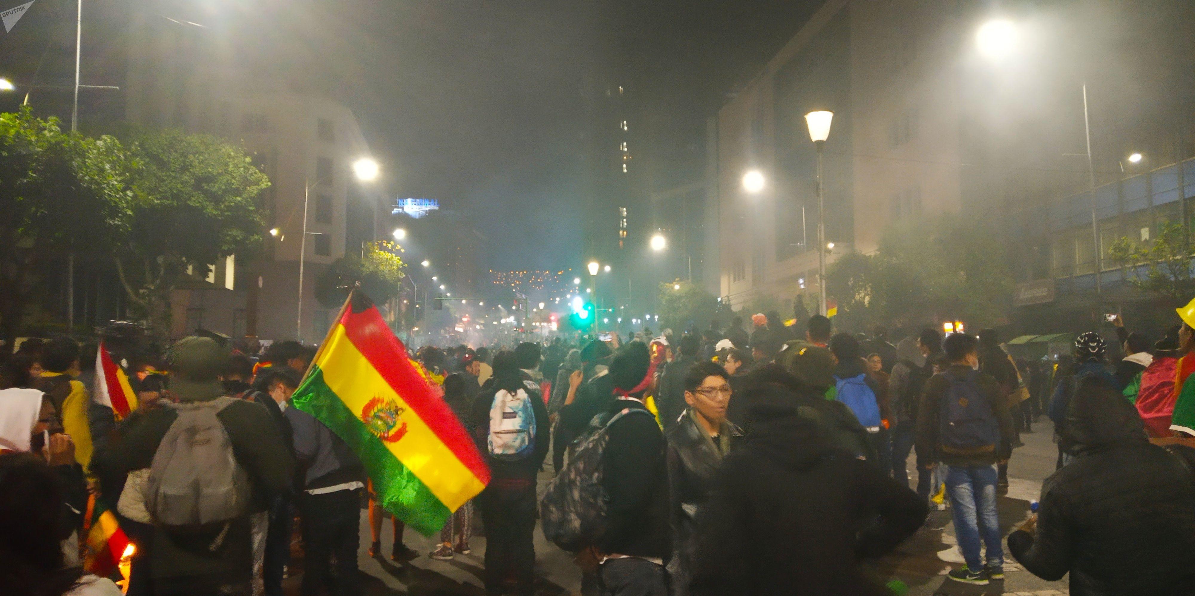 Cabildo convocado por la oposición a Evo Morales en La Paz