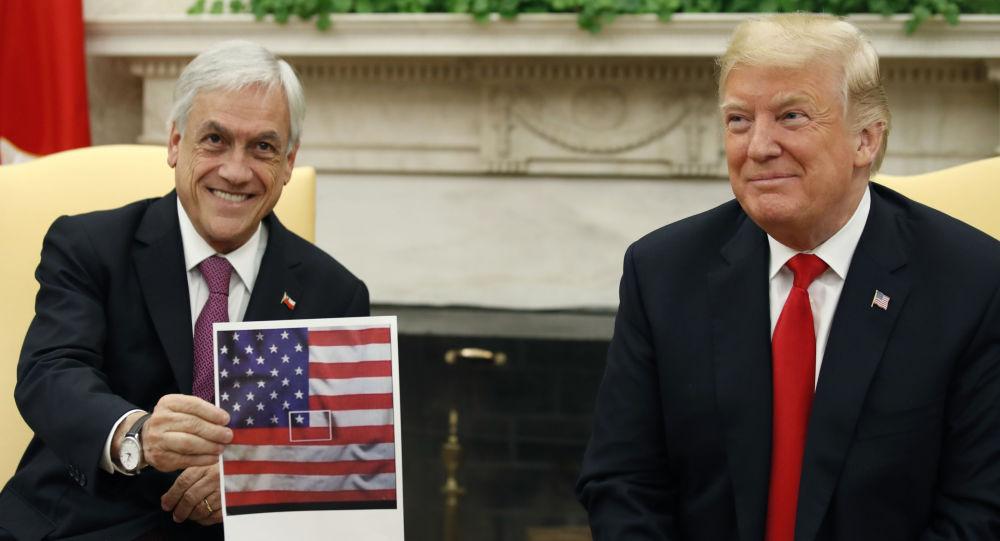Sebastián Piñera, presidente de Chile, y Donald Trump, presidente de EEUU, en Washington, 28 de septiembre de 2018
