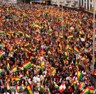 Las protestas en Bolivia (archivo)