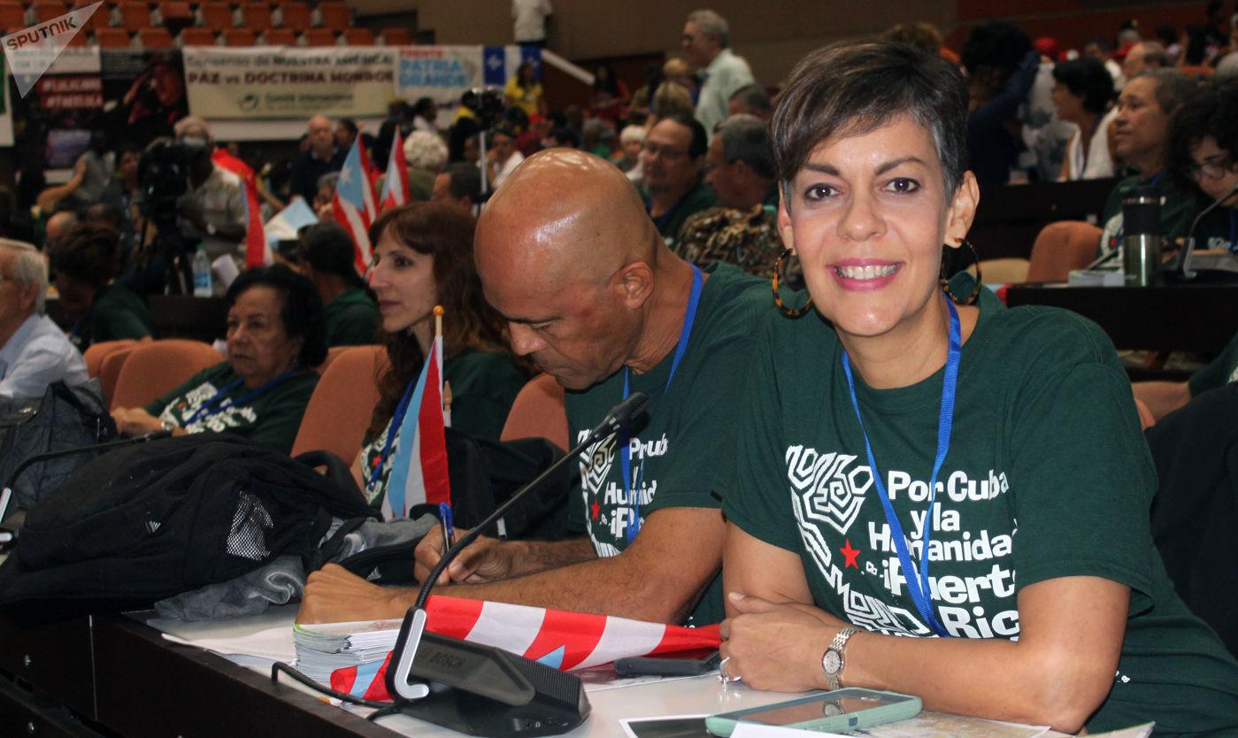 María de Lourdes Santiago, vicepresidenta del Partido Independentista Puertorriqueño