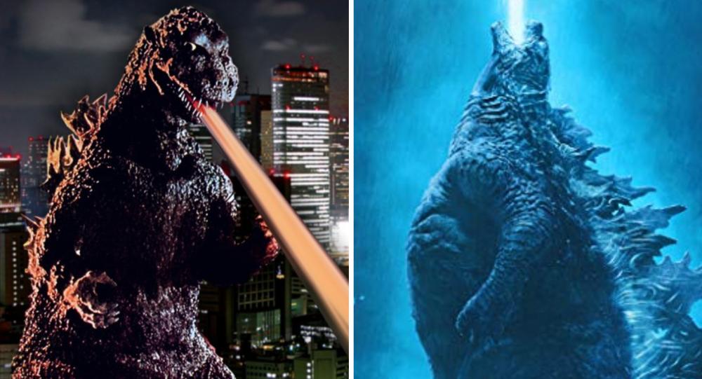 Godzilla en 1954 y en 2019